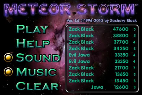 Screenshot Meteor Storm Classic